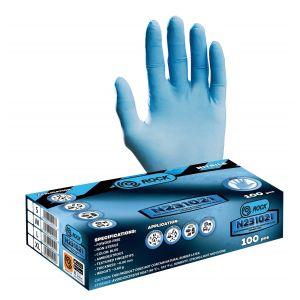 Mănusi de protectie de unică folosintă, nitril albastru - MPRS N231021/M